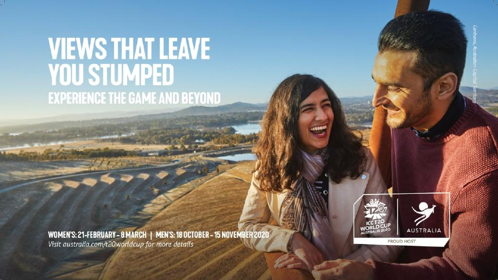 Tourism Australia has launched a new tourism campaign in India to drive visitors ahead of the T20 cricket world cup next year. This image features Canberra, ACT. PICTURE: SUPPLIED
