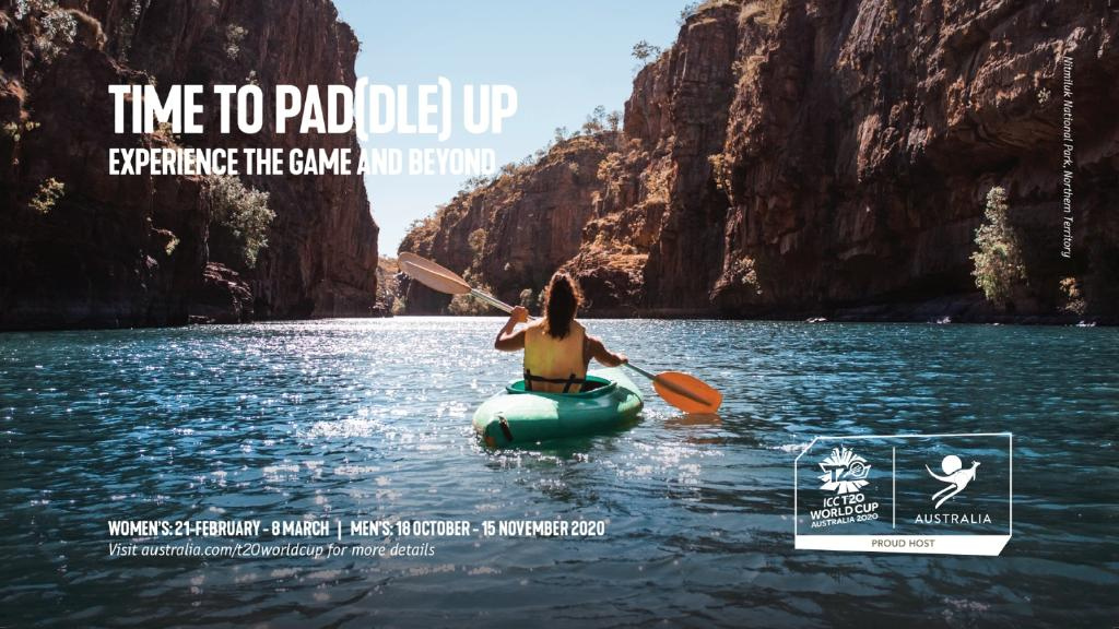 Tourism Australia has launched a new tourism campaign in India to drive visitors ahead of the T20 cricket world cup next year. This image features Nitmiluk National Park, Northern Territory. PICTURE: SUPPLIED