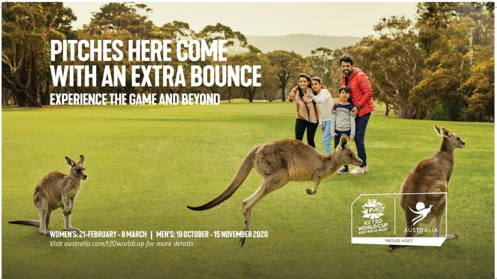 Tourism Australia has launched a new tourism campaign in India to drive visitors ahead of the T20 cricket world cup next year. This image features Anglesea, Victoria. PICTURE: SUPPLIED